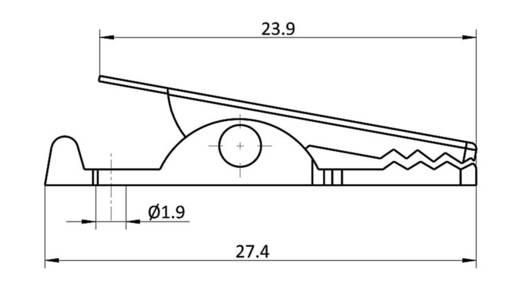 Krokodilcsipesz, fémes, csíptetési tartomány max, 4 mm, hossz: 27,4 mm, econ connect AK12