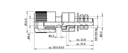 Labor csatlakozóaljzat, kék, 6 A, econ connect AK5BL