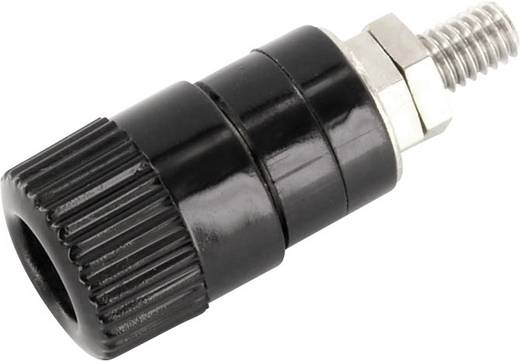 Labor csatlakozóaljzat, fekete, 6 A, econ connect AK5SW