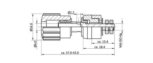 Labor csatlakozóaljzat, fekete, 16 A, econ connect AK6SW
