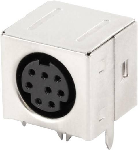 Miniatűr DIN kerek csatlakozó alj, beépíthető, vízszintes, pólusszám: 8, fekete, econ connect MDIOB8G