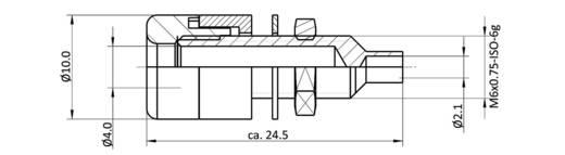 Labor csatlakozóaljzat, beépíthető, függőleges, 4 mm, sárga, econ connect TB4GE