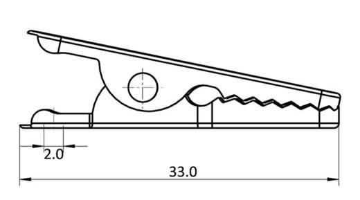 Krokodilcsipesz, fémes, csíptetési tartomány max, 4 mm, hossz: 33 mm, econ connect AK13