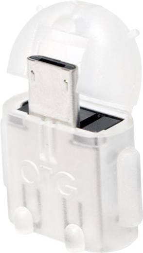 USB - Mikro USB csatlakozó átalakító, OTG funkcióval, átlátszó LogiLink AA0064