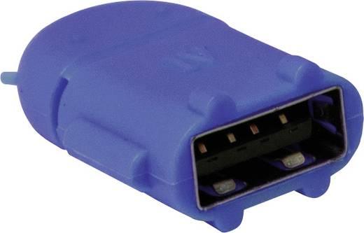 USB - Mikro USB csatlakozó átalakító, OTG funkcióval, kék LogiLink AA0066