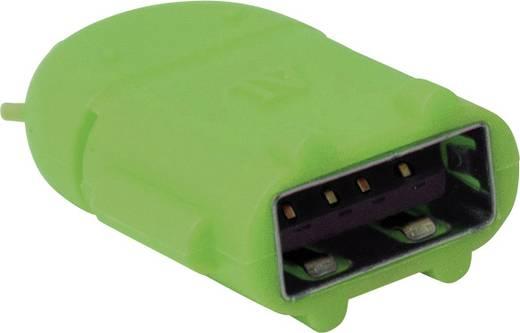 USB - Mikro USB csatlakozó átalakító, OTG funkcióval, zöld LogiLink AA0067