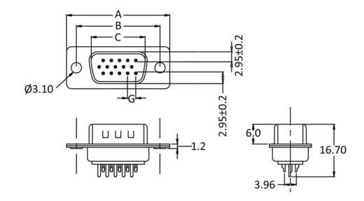 D-SUB tűs kapocsléc 180 °, pólusszám: 44 econ connect ST44HD