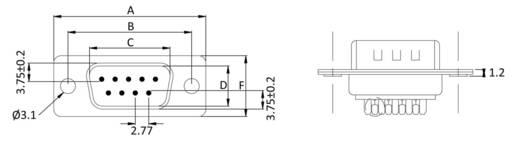 D-SUB tűs kapocsléc 180 °, pólusszám: 9 econ connect ST9LK/V