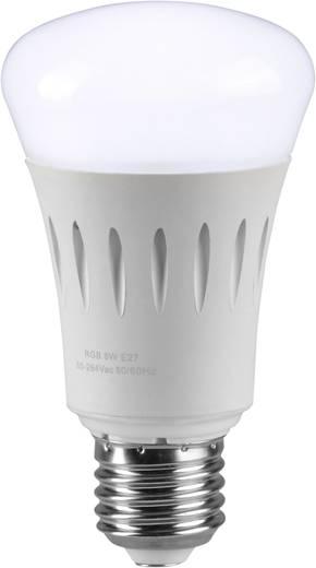 LED-es fényforrás, E27 7,5 W RGBW, EEK:A+, dimmelhető, alkalmazással vezérelhető, 3 db, Sygonix