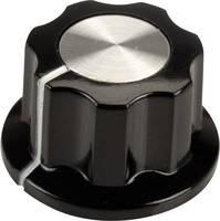 SCI RN-99F(6.4mm) Forgatógomb Fekete, Fehér (Ø x Ma) 19.5 mm x 11.5 mm 1 db SCI