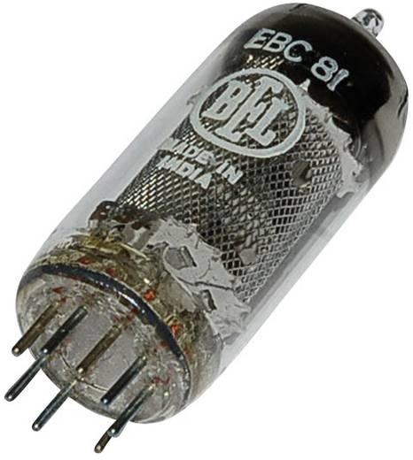Elektroncső EBC 81 = 6 BD 7 A, pólusszám 9, novál foglalat, Kettős dióda - trióda