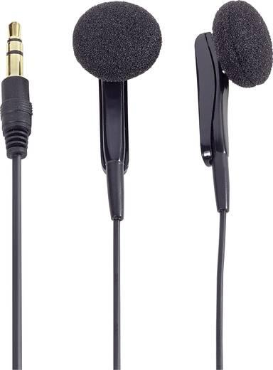 Vezetékes fülhallgató, fekete színű Renkforce DA 290