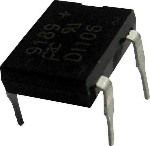 Híd egyenirányító PanJit DI106 Ház típus DIP Névleges áram 1 A U RRM (V) 600 V