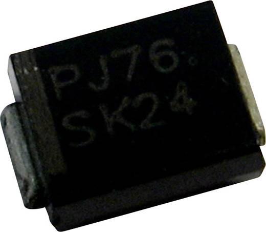 Schottky dióda PanJit SK24 Ház típus SMB/DO-214AA I(F) 2 A Feszültség 40 V