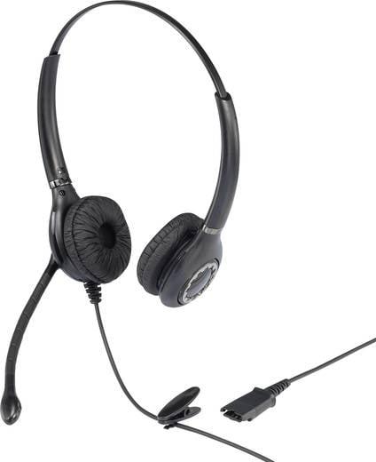 Telefon headset QD (Quick Disconnect) vezetékes, mono, Basetech KJ-101D