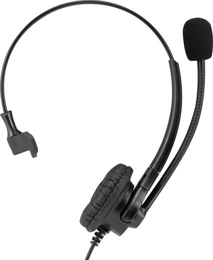 Telefon headset Vezetékes, Mono Basetech KJ-380M On Ear