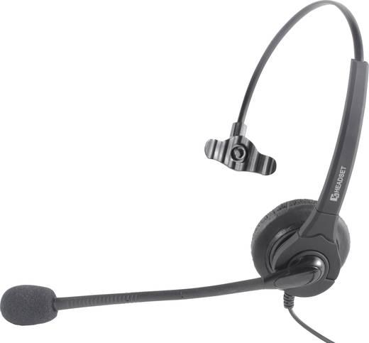 Telefon headset Vezetékes, Mono Basetech KJ