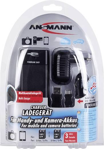 Univerzális kamera akku töltő, Li-Ion, LiPo, Ansmann Powerline Easy 1001-0021