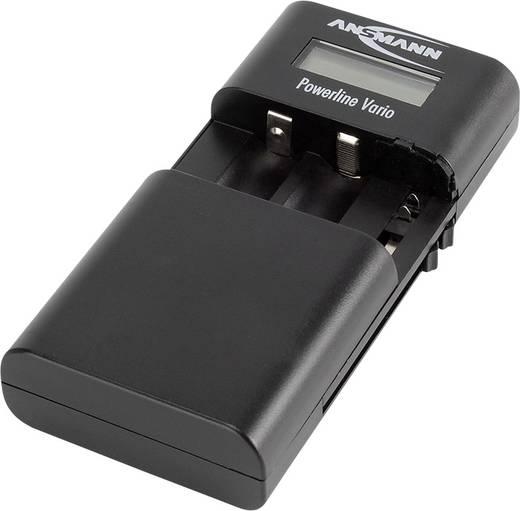 Univerzális kamera akku töltő, Li-Ion, LiPo, NiMH, Ansmann Powerline Vario 1001-0020