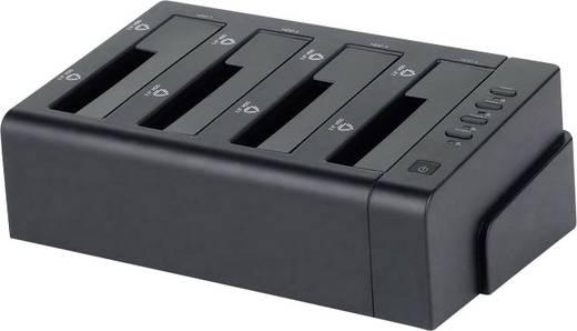 Merevlemez dokkoló állomás USB 3.0, eSATA, 4 port, Renkforce