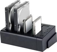 Merevlemez dokkoló állomás USB 3.0, eSATA, 4 port, Renkforce Renkforce
