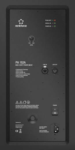 Aktív PA hangfal 15 300 W Renkforce PA152A Premium Line