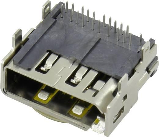 HDMI csatlakozó alj, beépíthető, vízszintes, pólusszám: 19 Tru Components