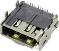 HDMI csatlakozó Alj, beépíthető, vízszintes Pólusszám: 19 TRU COMPONENTS 1 db TRU COMPONENTS