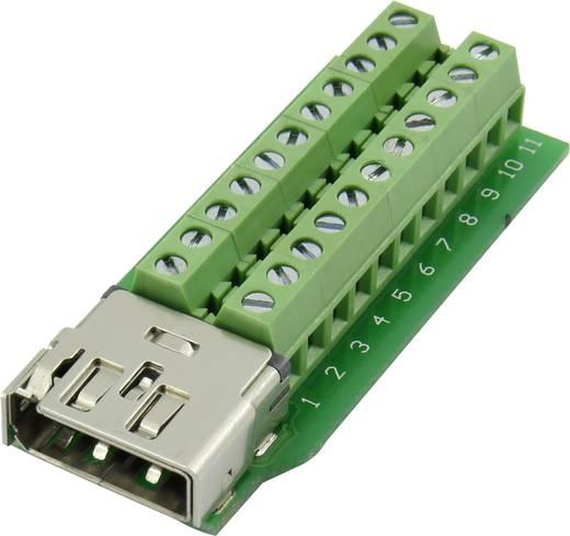 HDMI csatlakozó alj, beépíthető, függőleges, pólusszám: 22 Conrad
