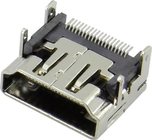 HDMI csatlakozó alj, beépíthető, vízszintes, ezüst, Attend 206A-SEAN-R03