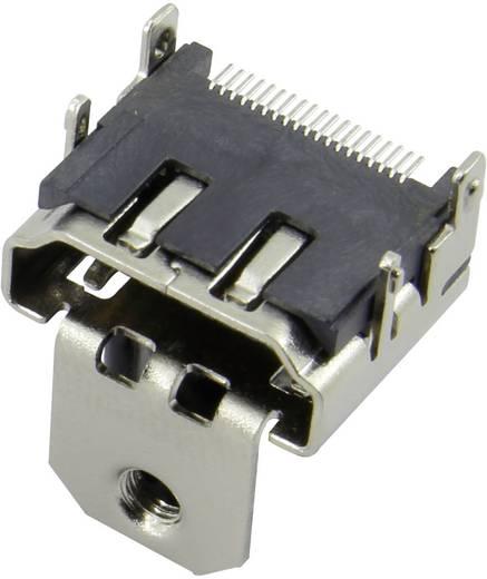 HDMI csatlakozó alj, beépíthető, vízszintes, ezüst, Attend 206B-SEAN-R03