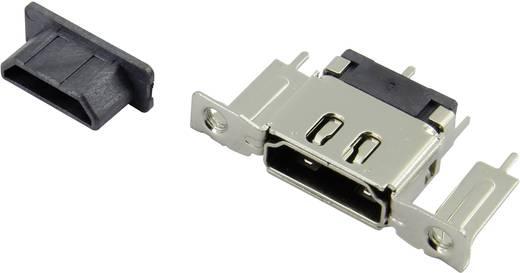 HDMI csatlakozó alj, beépíthető, vízszintes, ezüst, Attend 206F-SEAN-RA1