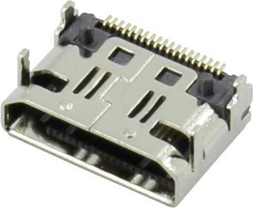 HDMI csatlakozó alj, beépíthető, vízszintes, ezüst, Attend 206G-SXAN-R01