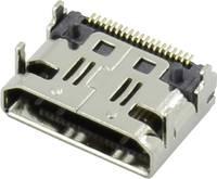HDMI csatlakozó alj, beépíthető, vízszintes, ezüst, Attend 206G-SXAN-R01 (206G-SXAN-R01) Attend