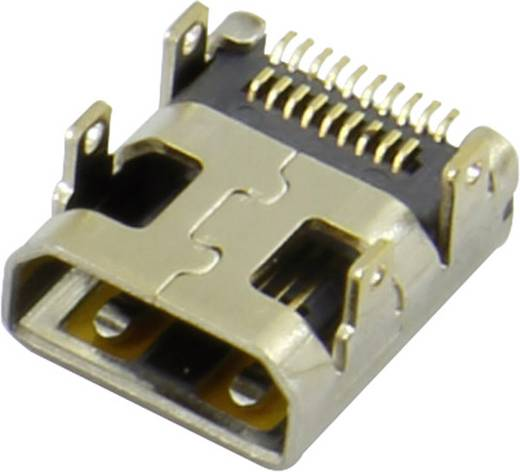 HDMI csatlakozó alj, beépíthető, vízszintes, ezüst, Attend 206H-SDAN-R01