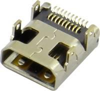 HDMI csatlakozó alj, beépíthető, vízszintes, ezüst, Attend 206H-SDAN-R01 (206H-SDAN-R01) Attend