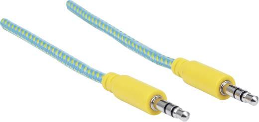 Jack audio kábel 1.80 m sárga - zöld színben Manhattan 352796