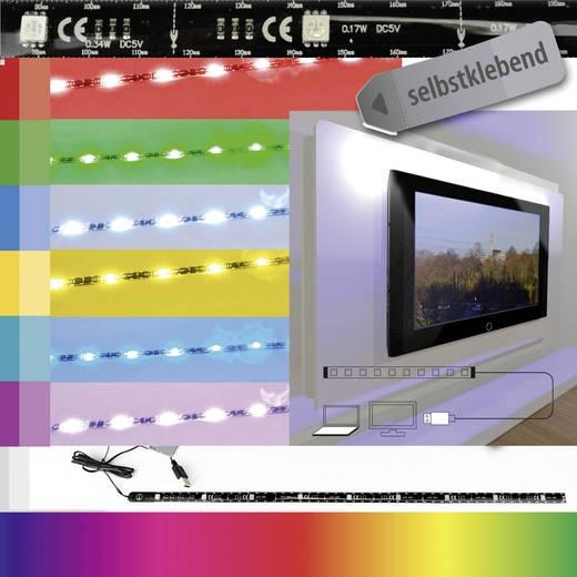 RGB LED szalag készlet USB csatlakozóval, 5 V, 51,5 cm, X4-LIFE 701407