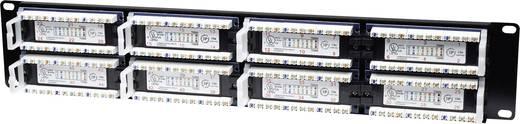 Rack szekrénybe építhető 48 portos RJ45 elosztó, CAT 3, CAT 4, CAT 5, CAT 5e UTP patch panel, Intellinet 2 HE