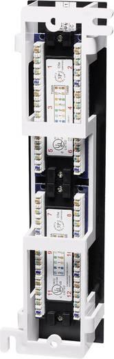 Falra szerelhető 12 portos RJ45 elosztó, CAT 3, CAT 4, CAT 5, CAT 5e UTP patch panel, Intellinet 1 HE 162470