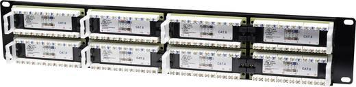Rack szekrénybe építhető 48 portos RJ45 elosztó, CAT 3, 4, 5, 5e, 6 UTP patch panel, Intellinet 2 HE 560283
