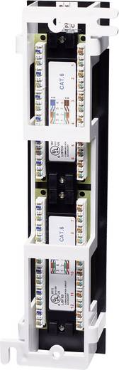 Falra szerelhető 12 portos RJ45 elosztó, CAT 3, CAT 4, CAT 5, CAT 5e, CAT 6 UTP patch panel, Intellinet 1 HE 560269