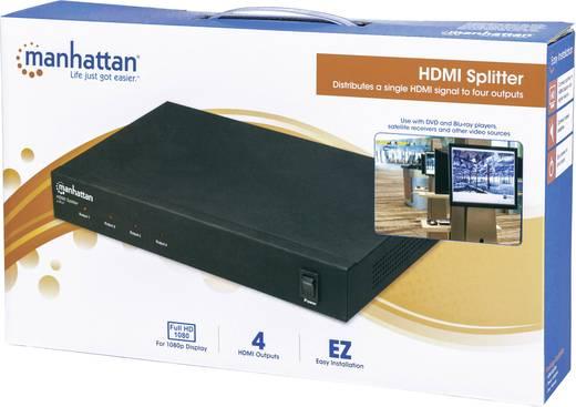 4 portos HDMI splitter, elosztó 1920 x 1080 pixel Manhattan 177146