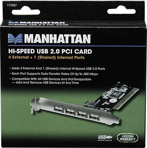 4 portos Hi-Speed, nagy sebességű USB 2.0 PCI kártya Manhattan 171557