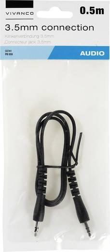 Jack Audio Csatlakozókábel [1x Jack dugó, 3,5 mm-es - 1x Jack dugó, 3,5 mm-es] 0.50 m Fekete Vivanco