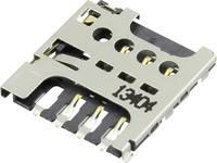 Attend Micro-SIM Kártyafoglalat Érintkezők száma: 6 Nyomás, Húzós 115I-AEAA 1 db Attend