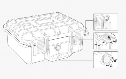 Vízálló, por és ütésálló műszerkoffer, hordtáska 270 x 250 x 125 mm Basetech 1310217