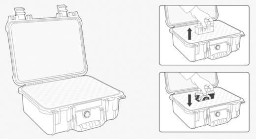 Vízálló, por és ütésálló műszerkoffer, 560 x 430 x 215 mm, polipropilén, Basetech Outdoor