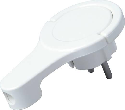 Lapos hálózati dugó 230 V, fehér, IP20 Kopp 172002037