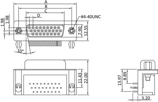D-SUB hüvelyes kapocsléc, pólusszám: 26 forrcsúcs, econ connect BU26HDW